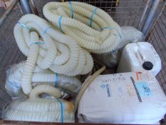 Mixed Stillage including 7 x Flexible Hoses, 4 x Durastic Deck Covering & 1 x 25kg Tub of Durastic