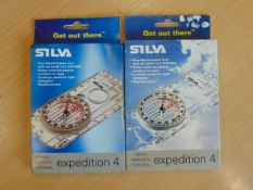 2 x Unissued Silva expedition 40 compasses in unissued condition