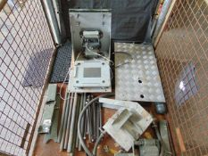 Mixed Stillage of AFV Spares including Track Pins, CVRT Floor Plate, Radio Fitting Kit etc