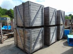 Qty 6 x Heavy Duty Wooden Shipping Crates