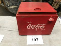 Vintage Coca Cola Galvanised Lined Cool Box