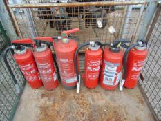 6 x Mixed Fire Extinguishers