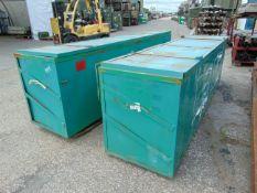 2 x Metal Shipping / Moving Crates 2.95m x 0.75m x 0.9m