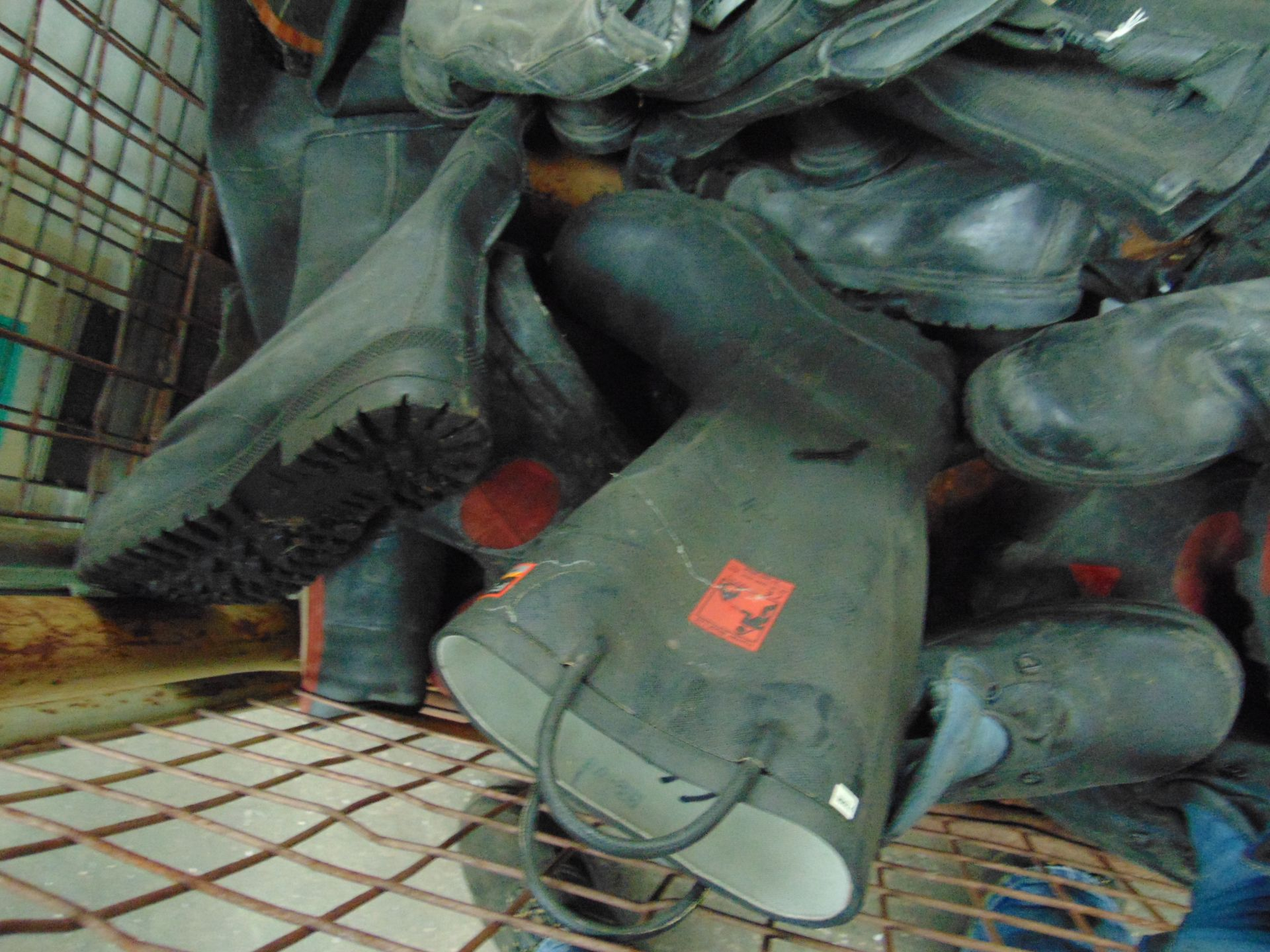 Lot 56 - Approx 15 x Pairs of Wellington Safety Boots, Waders etc Mixed Sizes