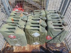 9 x NATO Issue 20L Jerry Cans as shown