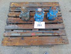 3x 35 Tonne Tangye Hydraulic Bottle Jacks