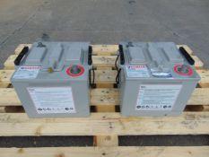 2 x Hawker UK6TFM 12 volt Batteries