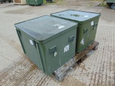 2 x Large Aluminium Storage Boxes 78 x 65 x 60 cms as shown
