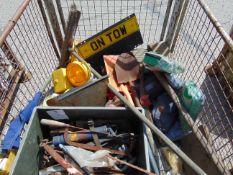 Shovels, Beacons, Tools, First Aid Kits, Helmets etc