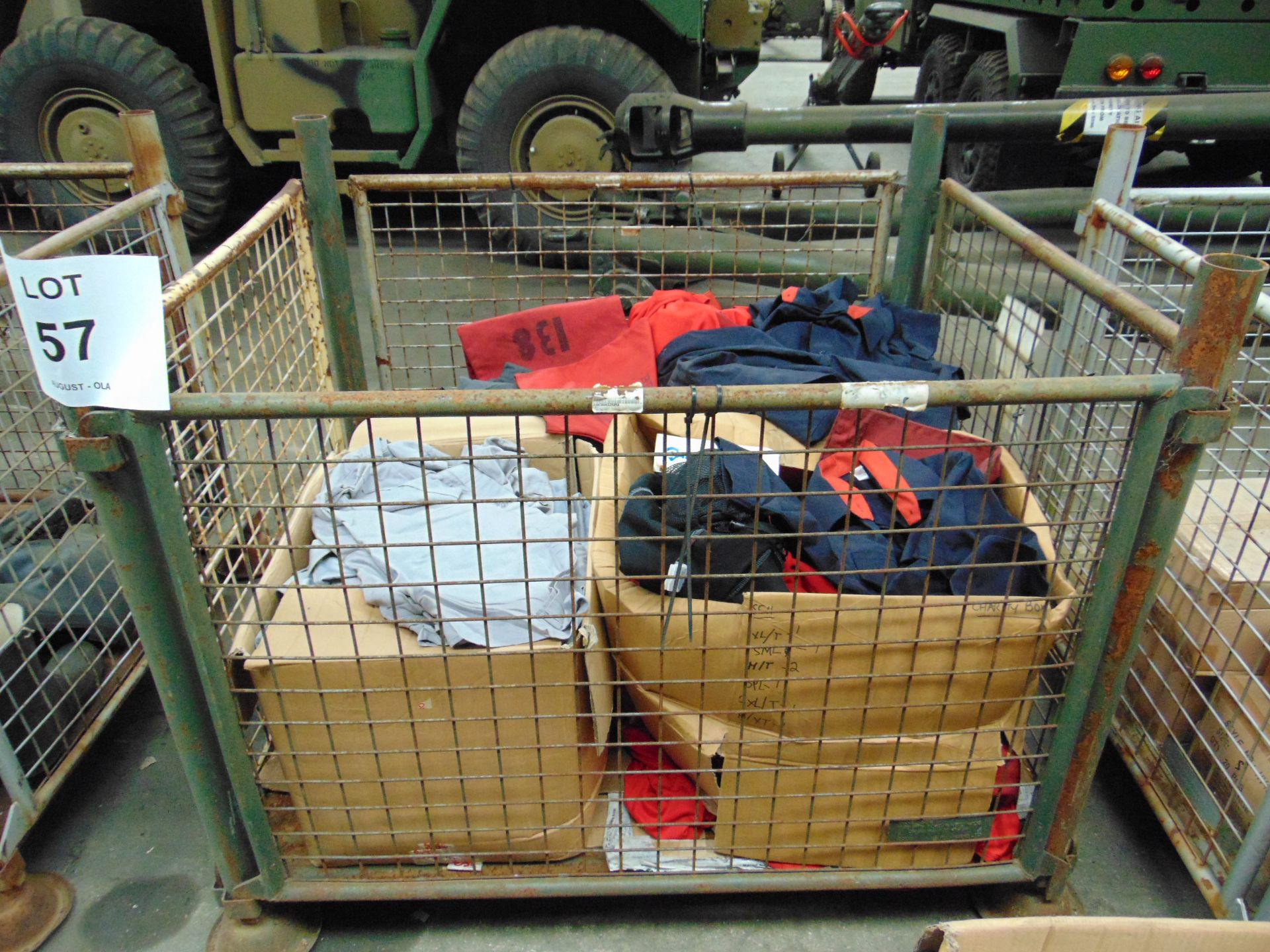 Mixed Clothing including Shirts, T shirts, Trousers, Fleece Jackets, Knee Pads Etc