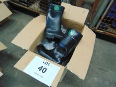 Qty 5 x Unissued Bekina Wellington Safety Boots Size 10
