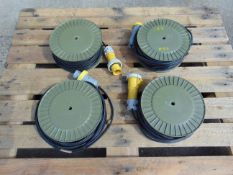 4 x 90ft 110v Cable Reels