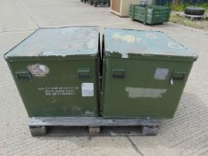 2 x Large Aluminium Storage Boxes 85 x 73 x 65 cms as shown