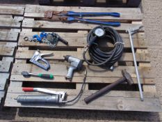 Mixed Tools Inc Bolt Croppers, Air Line Assy, Air Wrench, Lever Block etc