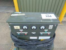 ELECTRO DYNAMIC CONSTRUCTION LTD 15 KVA 3 PHASE MOTOR GENERATOR UNIT