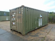 DEMOUNTABLE FRONT LINE ABLUTION UNIT IN 20FT CONTAINER WITH HOOK LOADER, TWIST LOCKS ETC.