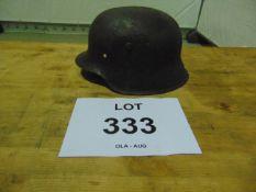 WW II GERMAN HELMET FOUND NEAR D.Day BEACHES IN NORMANDY