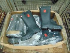 Qty 10 x UNISSUED Pairs of Hunter Firefighter 4000 Super Safety Wellington Boots Size 10