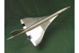BEAUTIFUL!! Large Aluminium CONCORDE Model
