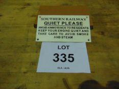 SOUTHERN RAILWAY CAST IRON RAILWAY SIGN