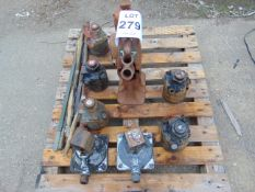 9x Jacks Inc 10x5 tonne TOE Hydraulic Jacks Etc