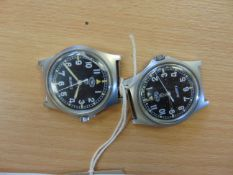 2x CWC W10 WATCHES DATED 2005 & 2006 WATER RESISTANT TO 5 ATM