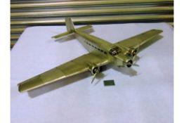 """The Junkers JU 52 """"IRON ANNIE"""" Aluminium Scale Model"""