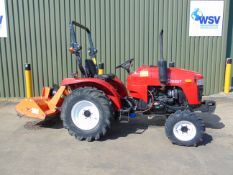 Siromer 204S 4WD Tractor c/w PTO driven Flail Mower ONLY 4 Hours!