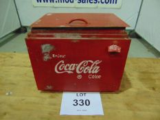 VINTAGE REPRO COCA COLA COOL BOX - galvanized lined with opener