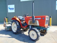 Yanmar YM1702D 4WD Compact Tractor c/w Rotovator Only 1,166 Hours!