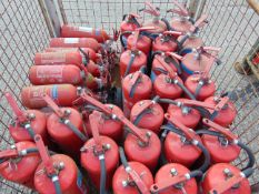Approx 50 x Mixed Fire Extinguishers as shown