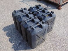 7 x Standard Nato 5 gall Water Jerry Cans as shown