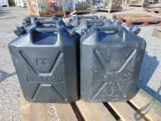 6 x Standard Nato 5 gall Water Jerry Cans