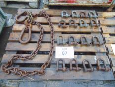 Heavy Duty Chain Assy & 16 x D Shackles