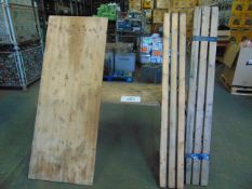 2x BRITISH ARMY 6 FT TRESSLE TABLES AND 2X STANDARD BENCHES