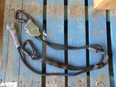 Unissued 2m SpanSet Work Positioning Lanyard c/w Rope Rat