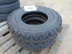 2 x Goodyear G90 7.50 R16 Land Rover Wolf Tyres