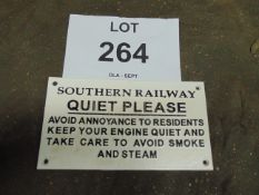 Southern Railways Cast Iron Railway Sign