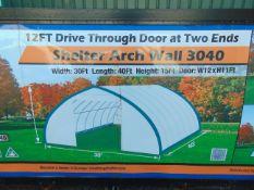 Heavy Duty Storage Shelter 30'W x 40'L x 15' H