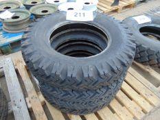 4 x Goodyear 6.50-16 Hi-Miler Xtra Grip Tyres