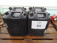 4 x Standard Nato 5 gall Water Jerry Cans as shown