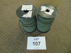 2 x Unissued NATO Issue 100m 8mm Rolls of Bungee Cord / Shock Cord