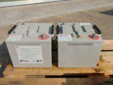 2 x Hawker UK6TNMF 12 volt 110 a/h Nato batteries