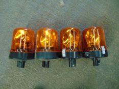 4 x Britax Rotating Amber Beacons