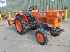 Kubota ZL1501 4WD Compact Tractor c/w Rotovator ONLY 1,333 HOURS!