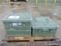 2 x Heavy Duty Zarges Aluminium Cases