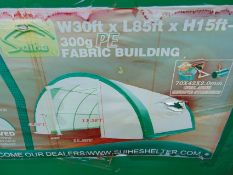 85ft Lx 30ft W x 15ft H Relocatable Heavy Duty Storage Shelter New Unissued