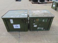 2 x Large Aluminium Storage Boxes 78 x 65 x 60 cms as shown