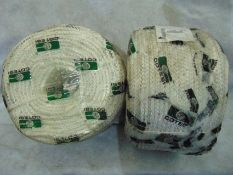 2 x UNISSUED 220Mtr Coil of 9mm Dia Polyester Cord
