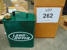 Repro Unused Land Rover Fuel/Oil Can with brass screw cap